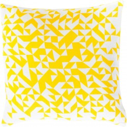 Stately Static Yellow, Tan Pillow   TO006-1818P