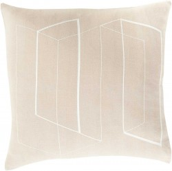 Lines and Angles Grey, Tan Pillow | TO012-1818P