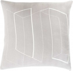 Lines and Angles Grey, Tan Pillow | TO013-1818P