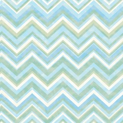 Oasis Blue Chevron Wallpaper