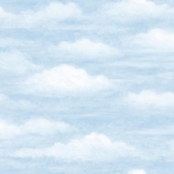 Daydreamer Blue Clouds Faux Effects Wallpaper