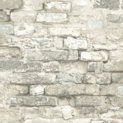 White Brick Alley Wallpaper