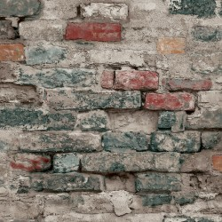 Blue Brick Alley Wallpaper