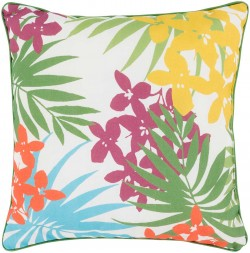 Ulani Flower Pillow in Magenta and Poppy | UL002-1616