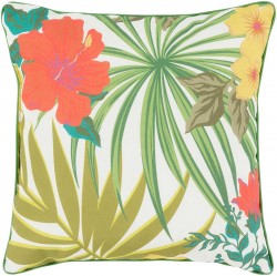 Ulani Flower Pillow in Rust and Gold | UL008-1616