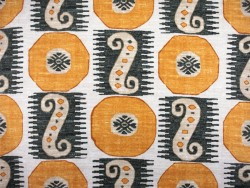 Yellow Black Ethnic Geometric Souk Treasure Jasmine Pkaufmann Fabric