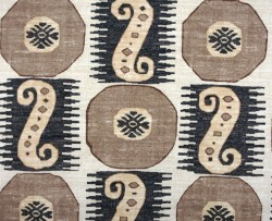Brown Black Ethnic Geometric  Souk Treasure Rattan Pkaufmann Fabric