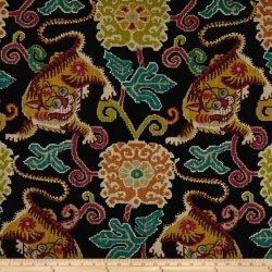 Tibetan Tiger Black P Kaufmann Fabric