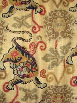 Tibetan Tiger Tea P Kaufmann Fabric