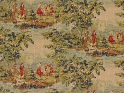 Bosporus Antique Red Covington Fabric