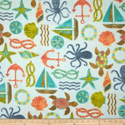 Seapoint Blue Summer Swavelle Mill Creek Fabric
