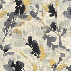 Leaf Storm T Graphite Waverly PK Lifestyles Fabric