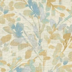 Leaf Storm T Mineral Waverly PK Lifestyles Fabric