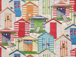 Beach Huts Cabana Richloom Fabric