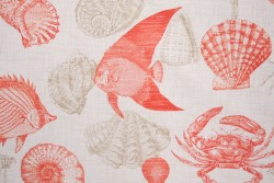 Sea Life Coral Richloom Fabric