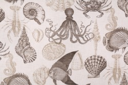 Sea Life Driftwood Richloom Fabric