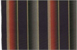 Bandera Stripe Black Multi Laura Kiran Fabric