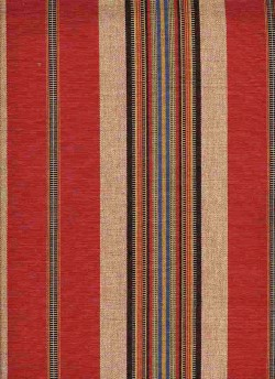 Cheyenne Stripe Red Laura Kiran Fabric
