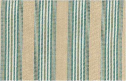 Cheshire Stripe Sand Teal Laura Kiran Fabric