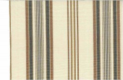 Casablanca Stripe Browns Laura Kiran Fabric