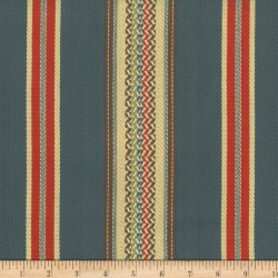 El Dorado Stripe Blue Laura Kiran Fabric