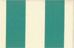 Grand Awning Stripe Teal Nat Laura Kiran Fabric
