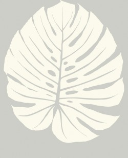 VA1233 Bali Leaf Grey Wallpaper