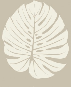VA1234 Bali Leaf Tan Wallpaper