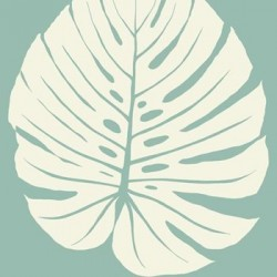 VA1235 Bali Leaf Blue Wallpaper