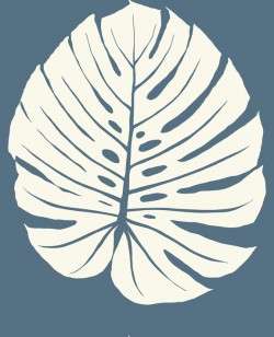 VA1237 Bali Leaf Navy Wallpaper
