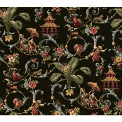 Waverly Wallpaper WA7769 Mandarin Prose Oriental Asian Toile