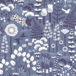 WV1453 Hoppet Blue Folk Wallpaper