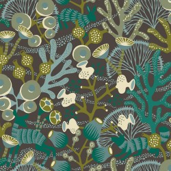 WV1460 Korall Green Meadow Wallpaper