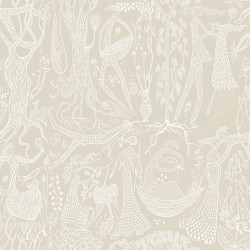 WV1763 Poem d Amour Taupe Folk Wallpaper