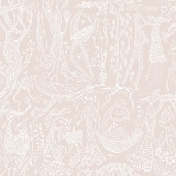 WV1764 Poem d Amour Blush Folk Wallpaper