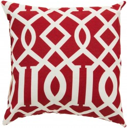 Radiant Roman Numeral Red, Tan Pillow | ZZ416-1320
