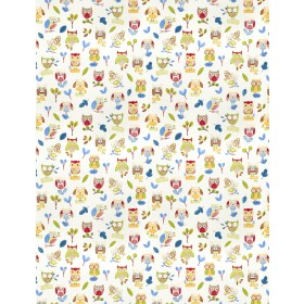 Outstanding Ollie Owl Paintbox Fabric