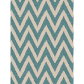 Spectacular Shelton Chevron Teal Fabric