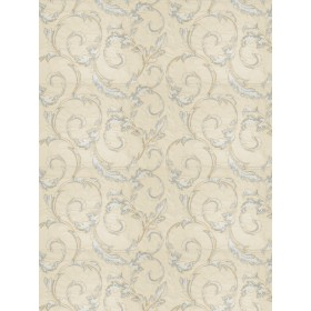 Pretty Britton Leaves Porcelain Fabric