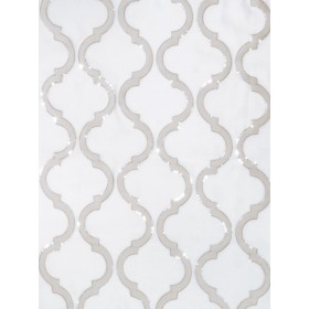 Outstanding Shimmering Lattice Silver Fog Fabric