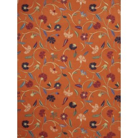 Magnificent Jacobean Jangle Cinnamon Fabric