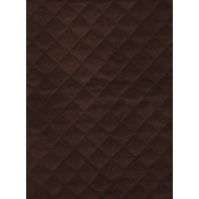 Quilted Velvet Sable Fabric