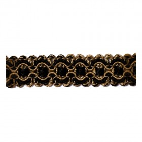 Fabulous 01741 Black Gold Trim Fabric