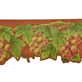 FDB08565 Fruit Leaves Wallpaper Border | 30 FEET