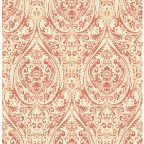 Gypsy Coral Damask Wallpaper