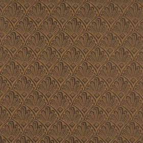 1124 Cocoa Fan Fabric by Charlotte Fabrics