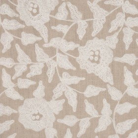 TOSH NATURAL/WHITE RM Coco Fabric