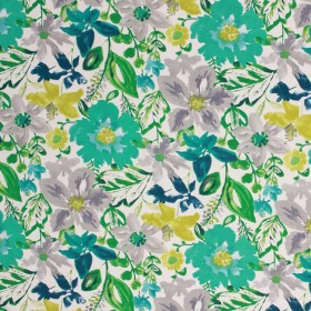 SPRING FLING TURQUOISE RM Coco Fabric