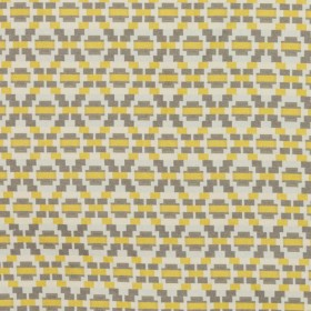 Step Up Trellis Gold Gray RM Coco Fabric