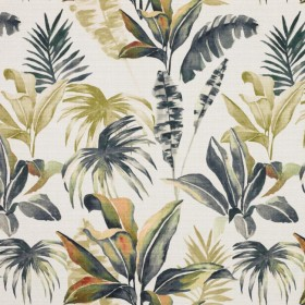 Tropic Splendor Graphite RM Coco Fabric